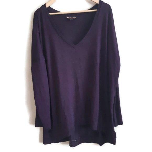 Love & Legend | purple soft knit top